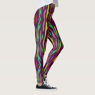 Leggings zèbre coloré