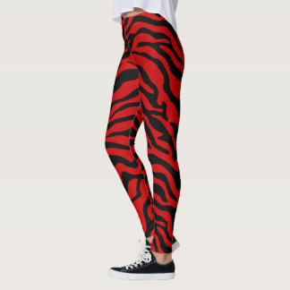 Leggings Zèbre rouge