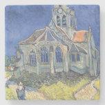 L'église à l'Auvers-sur-Oise Dessous De Verre En Pierre