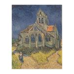 L'église à l'Auvers-sur-Oise Impression Sur Bois