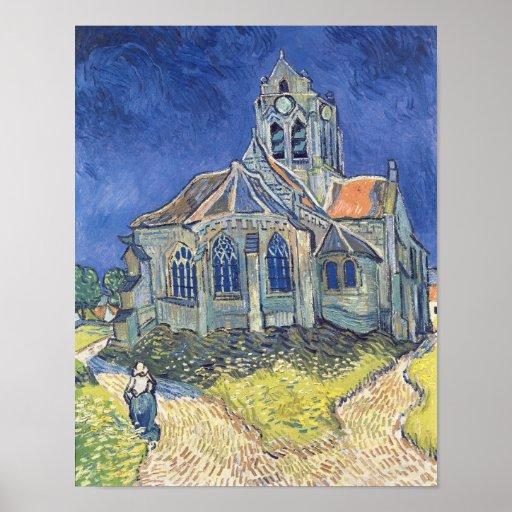 L'église à l'Auvers-sur-Oise Poster