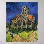 L'église chez Auvers par Vincent van Gogh Posters
