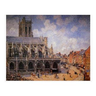 L'église de St Jacques dans Dieppe, matin Sun Carte Postale