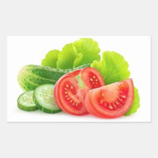 Légumes frais sticker rectangulaire
