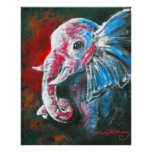 L'éléphant élégant intelligent poster