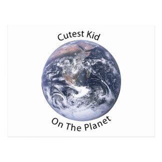 L'enfant le plus mignon sur la planète carte postale