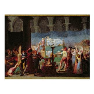 L'enterrement de Marat dans l'église antique Carte Postale