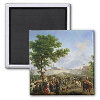 L'entrée de Napoleon Bonaparte Magnet Carré