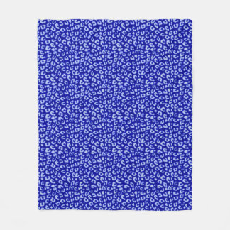 Léopard bleu de batik - couverture d'ouatine