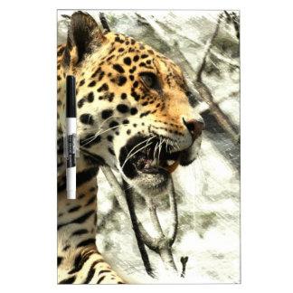 léopard sauvage animal de safari de faune de tableaux effaçables blancs