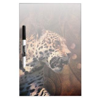 Léopard sauvage de cuir primitif de pays tableau effaçable à sec