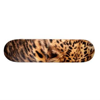 Léopard sur le cadeau animal de Noël de motif de B Skateboards Customisés