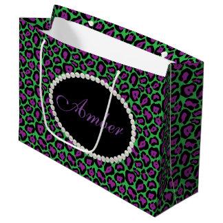 Léopard vert et pourpre, sac de cadeau