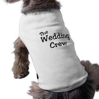 L'équipage de mariage tee-shirt pour animal domestique