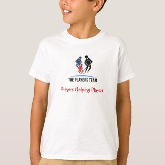 L'équipe de joueur badine des T-shirts