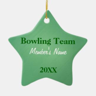 L'équipe de sports verte et blanche ornemente ou ornement étoile en céramique
