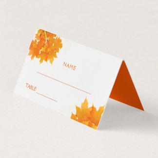 L'érable d'automne part du mariage carte de placement