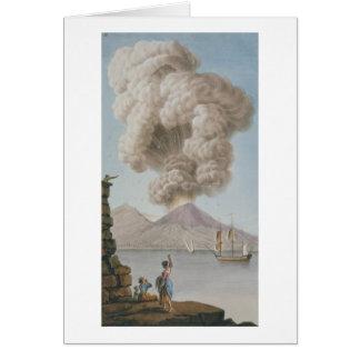 L'éruption du Vésuve, lundi 9 août 1779, plat Carte