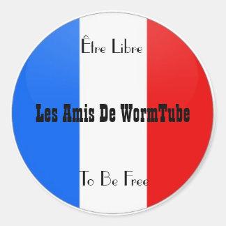 Les Amis De WormTube Stickers Sticker Rond