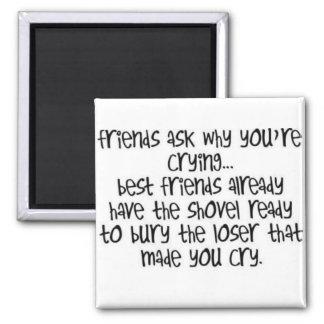 Les amis demandent pourquoi vous pleurez… Aimant