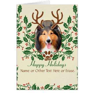 Les andouillers de Noël pour le chien/chat Carte De Vœux
