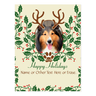 Les andouillers de Noël pour le chien/chat Carte Postale