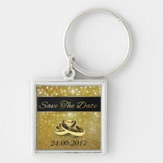 Les anneaux de mariage élégants sauvent le porte - porte-clés