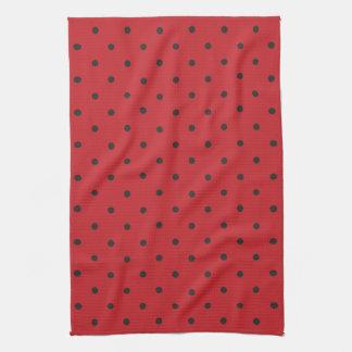 Les années '50 dénomment le point de polka rouge serviettes éponge