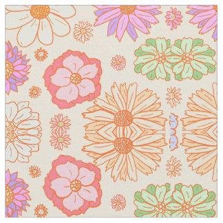 Les années 70 florales vintages de tissu