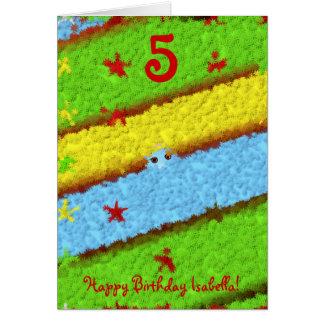 Les anniversaires des enfants carte de vœux