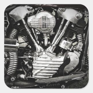 Les autocollants iconiques de moteur