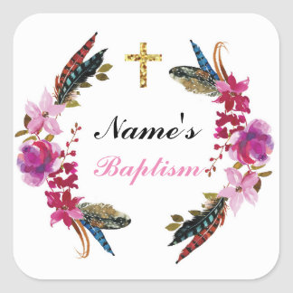 Les autocollants religieux de nom de baptême