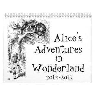 Les aventures d'Alice dans le calendrier du pays
