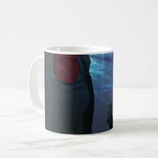 Les bas poly poulpes sculptent mug
