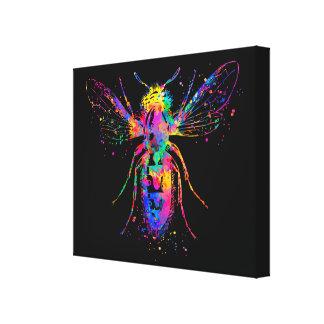 Les beaux-arts d'abeille d'aquarelle ont enveloppé toiles