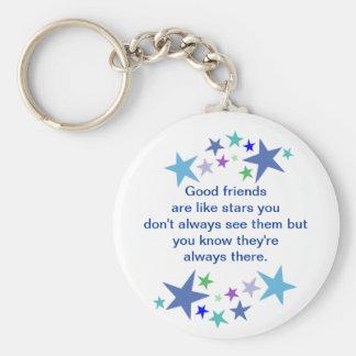 Les bons amis sont comme la citation d'amusement porte-clé rond