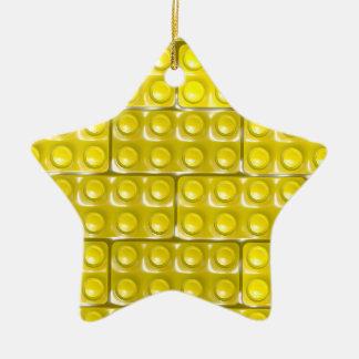 Les briques du constructeur - jaune ornement étoile en céramique