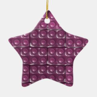 Les briques du constructeur - rose ornement étoile en céramique