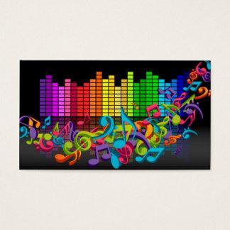 les bruits colorés d'égaliseur de notes de musique cartes de visite