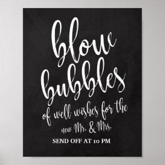 Les bulles envoient outre du signe de mariage du