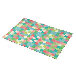 Les carrés modèlent des sets de table modernes de
