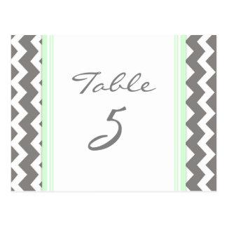 Les cartes de nombre de Tableau de mariage