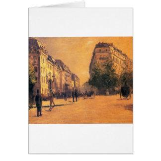 Les casernes de Perpiniere par Gustave Caillebotte Carte