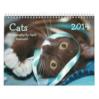 Les chats classent 2014 calendrier mural