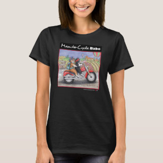 Les chats de moto affinent le T-shirt du Jersey