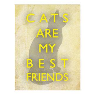 Les chats sont mes meilleurs amis carte postale