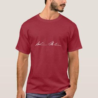 Les chemises des hommes - blanc sur l'obscurité t-shirt