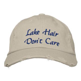 Les cheveux de lac ne s'inquiètent pas le casquette brodée