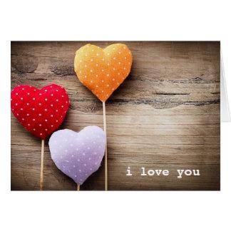 Les coeurs faits main vintages de Valentine sur le Carte