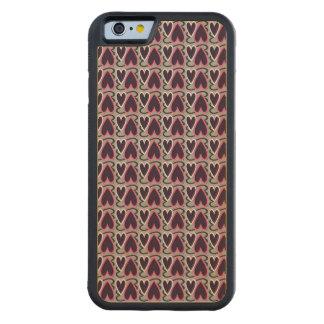Les coeurs modèlent la violette grise et foncée coque iPhone 6 bumper en érable